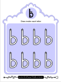 Printing practice activities for the lowercase letter b